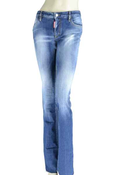 Dsquared2 Medium Waist Flare Jean Jeans Damen Waschung blau