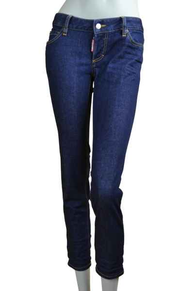 Dsquared2 Jennifer Cropped Jean Jeans ohne Waschung dunkelblau