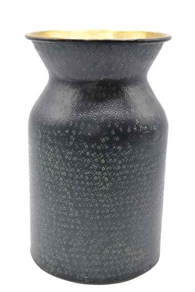 Vase aus Metall schwarz