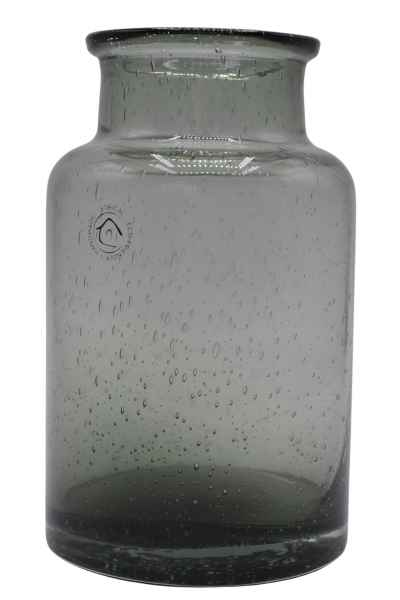 Vase aus Glas klein grau