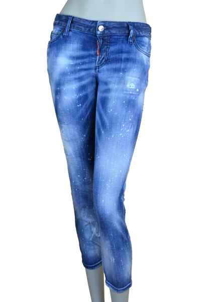 Dsquared2 JENNIFER CROPPED JEAN Jeans mit Waschung blau