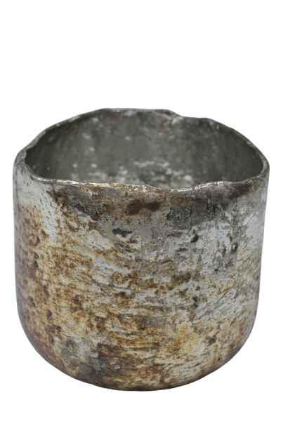 Dekorative Vase Windlicht braun gold