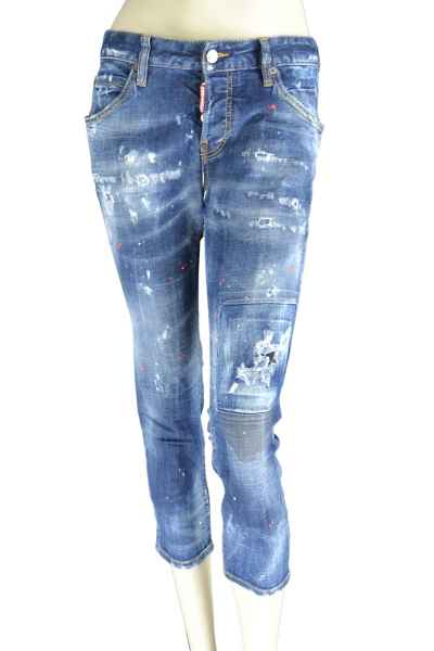 Cool Girl Cropped JeanJeans Waschung Farbe