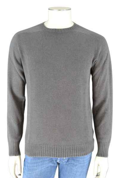 04651/ Sylt Pullover Rundhalsausschnitt grau