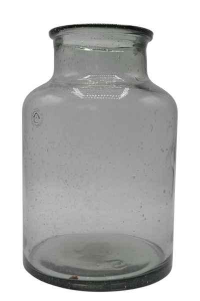 Vase aus Glas groß grau